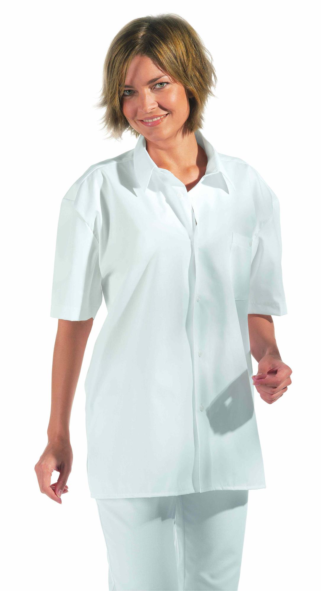Leiber Bluse weiss 1/1 Arm (wie auf Bild nur als 1/2 Arm) 100% L12/629 L12/629 D