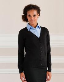 Russel Collection Cardigan für Damen Gr.XXS-4XL, dunkelblau oder schwarz Z715