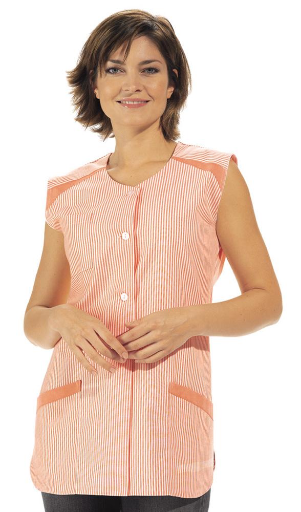 Leiber Kittel, Kasack farbig ohne Arm 65% Poly./35% Bw L04/706