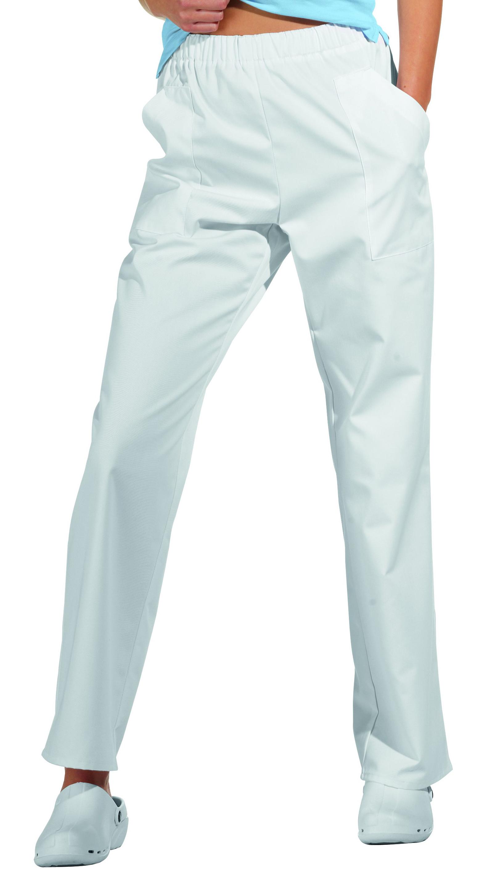 Leiber Hose weiss Schrittlänge 75 cm 65% Poly./35% Bw L08/8192 w