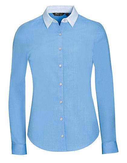 SOL´S Bluse mit weißem Kragen 100 % Baumwolle LL01431