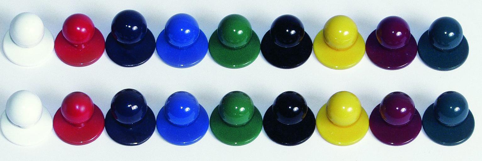 Leiber Kugelknöpfe farbig (5 X 12 Stück) L02/417
