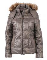 Damen Winterjacke mit Kapuze aus Webpelz