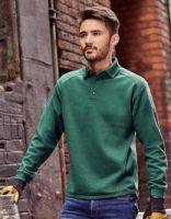 Sweatshirt mit Kragen und Knopfleiste