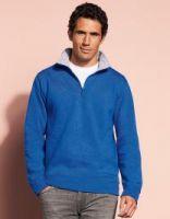 Sweatshirt mit Trucker-Kragen und Reißverschluss