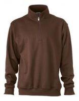 Sweatshirt mit Stehkragen und Reißverschluss bis Gr. 4XL